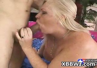 charming wild bbw pervert wench drilled