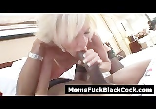 horny blond cougar sucks dark dick when spouse is