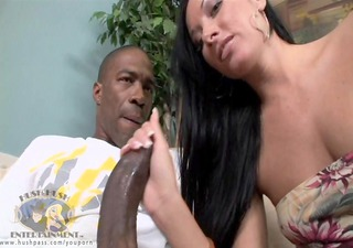 wife nadia acquires naughty with trio monster meat